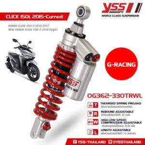 Phuộc YSS G-Racing Click, Vario 125/150 OG362-330TRWL-10-JX