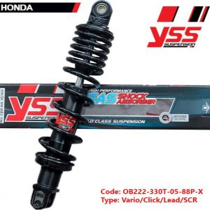 Phuộc YSS HYBRID chính hãng cho xe máy Honda Lead, Click, Vario, SCR 125/. Mã số OB222-330T-05-88P-X giá tốt nhất nhập khẩu trực tiếp từ Thái Lan.