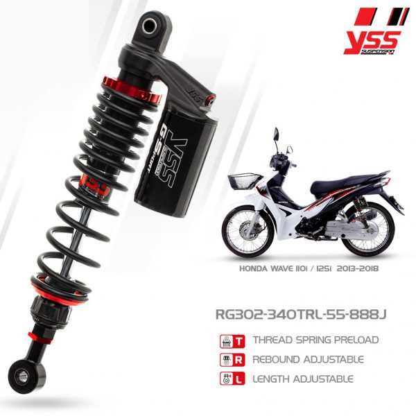 Phuộc YSS G-Sport Dream/Wave/Future RG302-340TRL55-888JX
