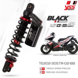 Phuộc YSS Yamaha NVX G-SPORT TG302-305TR-02-88-X chính hãng cho xe máy Yamaha giá tốt nhất. Do YSS.VN nhập khẩu trực tiếp từ Thái Lan.