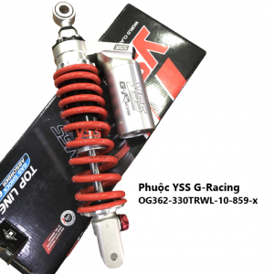 Phuộc YSS G-Racing SHMode/Vision/Grande/Acruzo/Luvias OG362-330TRWL-10-859-X. Mã số OG362-330TRWL-10-859-X giá tốt nhất nhập khẩu trực tiếp từ Thái Lan.