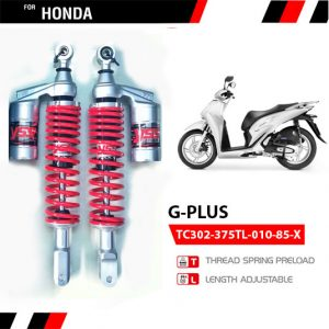 Phuộc YSS G-Plus Honda SH 125/150/300, Forza 300 ✅Nhập khẩu chính hãng YSS Thái Lan bởi YSS.VN✅ Thông Số Phuộc YSS: TC302-375TL-010-85-X