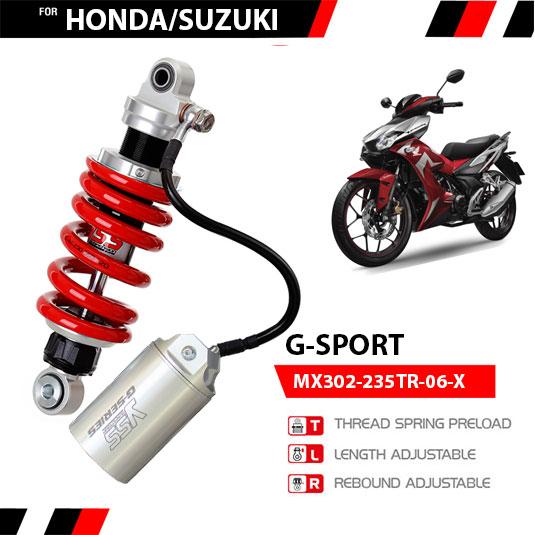 Phuộc YSS Winner, Sonic, Raider, Nova Dash, GTR/RS150R G-SPORT✅Nhập khẩu chính hãng YSS Thái Lan bởi YSS.VN✅Thông Số Phuộc YSS: MX302-235TR-06-X