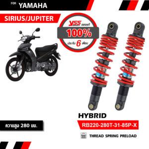 Phuộc YSS Yamaha Sirius, Jupiter Hybrid (Đỏ-Đen)✅Nhập khẩu chính hãng YSS Thái Lan bởi YSS.VN✅Thông Số Phuộc YSS: RB220-280T-31-85P-X