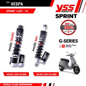 Phuộc YSS Vespa Primavera/Sprint Black Series