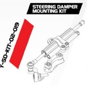 Pát gắn trợ lực căn bằng YSS Steering Damper Mounting Kit Y-SD-KIT-02-019 cho xe Kawasaki Ninja 400 nhập khẩu chính hãng Thái Lan bởi YSS.VN.