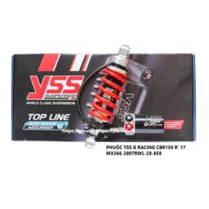 Phuộc CBR 150R ('17) , Phuộc YSS Honda CBR 150R ('17) G-Racing được nhập khẩu trực tiếp bởi YSS.VN, sản phẩm chính hãng. Phuộc mô tô
