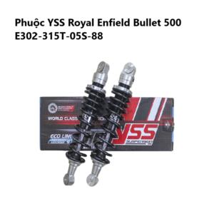 Phuộc YSS Royal Enfield Bullet 500 09-17 ✅Nhập khẩu chính hãng YSS Thái Lan bởi YSS.VN✅ Thông Số Phuộc YSS: E-Series E302-315T-05S-88
