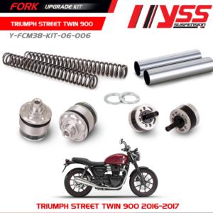 Bộ nâng cấp phuộc trước YSS Triumph Street Twin 900 Fork Upgrade Kit nhập khẩu chính hãng bởi YSS.VN. Mã Số : Y-FCM38-KIT-06-006