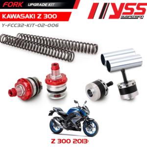 Bộ Nâng Cấp Phuộc Trước YSS KAWASAKI Z300 Fork Upgrade Kit ,chính hãn nhập khẩu Thái Lan bởi công ty YSS.Vn , Mã sản phẩm : Y-FCC32-KIT-02-006