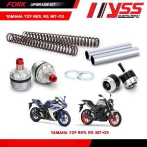 Bộ nâng cấp phuộc trước YSS YAMAHA YZF-R3 Fork Upgrade Kit nhập khẩu chính hãng bởi YSS.VN. Chính hãng thái lan Mã Số : Y-FCM38-KIT-04-003