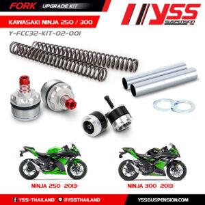 Bộ Nâng Cấp Phuộc Trước YSS KAWASAKI NINJA 250 '13-17, NINJA 300 '13 Fork Upgrade Kit ,nhập khẩu chính hãng bởi YSS.VN. Mã Số : Y-FCC32-KIT-02-001