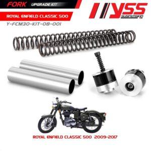 Phuộc trước Royal Enfield Bullet 500 '09-17>, Bộ Nâng Cấp Phuộc Trước YSSRoyal Enfield Bullet 500 '09-17>, Fork Upgrade Kit chính hãng