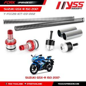 BỘ NÂNG CẤP PHUỘC TRƯỚC YSS SUZ/GSX-R 150'17>/GSX-S 150'17 Fork Upgrade Kit ,nhập khẩu chính hãng bởi YSS.VN. Mã Số : Y-FCC32-KIT-02-001