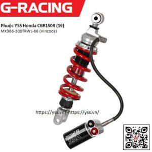 Phuộc YSS Honda CBR150R (19-current) 2021,Mã:MX366-300TRWL-66 (Vincode) được nhập khẩu trực tiếp bởi YSS.VN, sản phẩm chính hãng. Phuộc mô tô